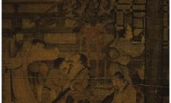 Сун. Лю Суннянь. «Собрание ученых мужей». Свиток на шелку. Из собраний Тайбэйского Музея Гугун